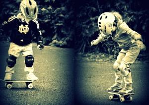 Erste Skateversuche